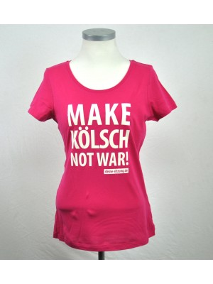 T-Shirt: MAKE KÖLSCH NOT WAR! (Damen)