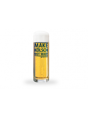 "Kölschglas 0,2 ""MAKE KÖLSCH NOT WAR!"""